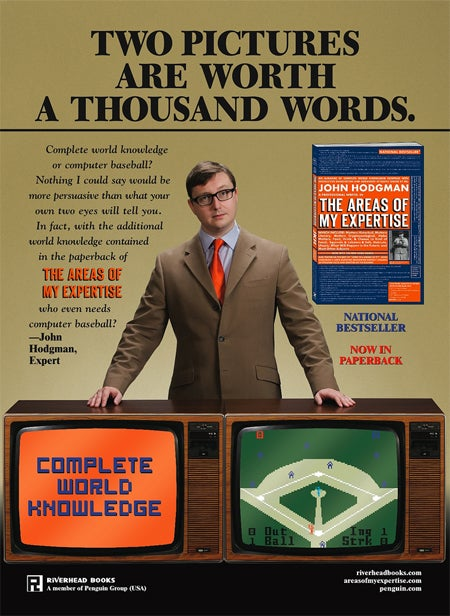 John Hodgman & George Plimpton United in Advertising