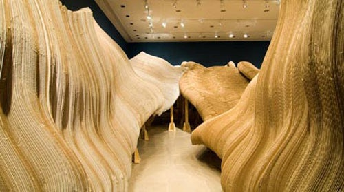 Eight Tons of Cardboard Molded Into an Imaginary Landscape