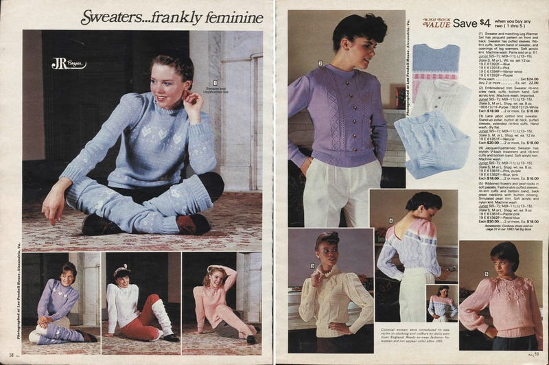 Let's Shop for Sweaters in 1983