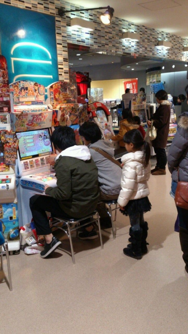 Two Dudes Making a Little Girl Wait To Play an Arcade Game That's... for Little Girls