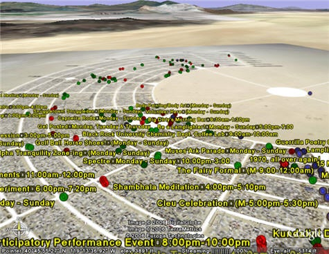 Google Earth maps Burning Man