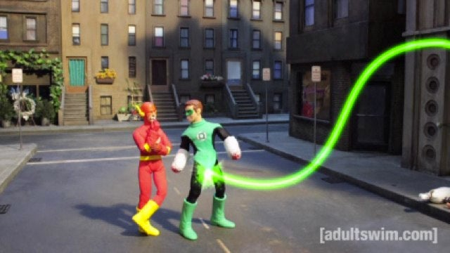 Robot Chicken's DC superhero special gives Green Lantern a new power ring (in his pants)