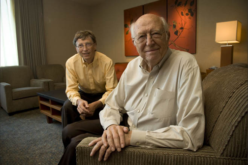Photo de Bill Gates & son  père  William H. Gates, Sr