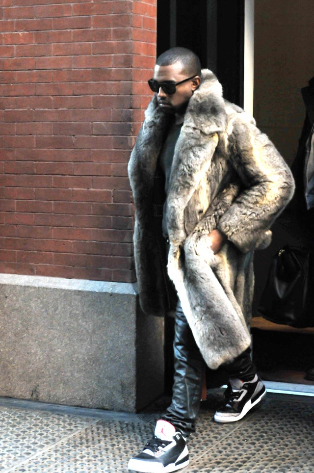 Kanye's Completely Conspicuous Yet Cozy Coat