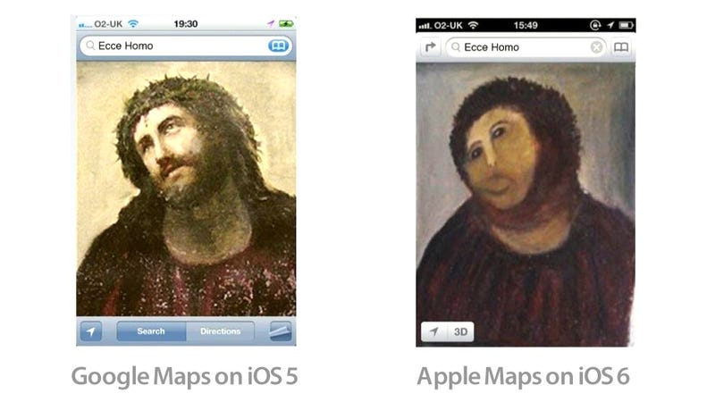 The Definitive Comparison of Google Maps vs Apple Maps In One Single Image