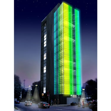 New Mediamesh and Illumesh Technologies Turn Entire Buildings Into LED Ads