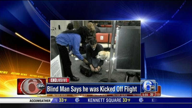 Flight Canceled After Passengers Protest Ejection of Blind Man