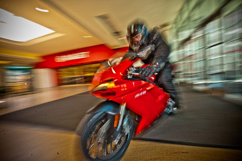 Ducati 848: First Ride... Through A Shopping Mall
