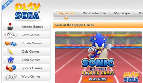 Sega Quietly Launches PlaySega.com