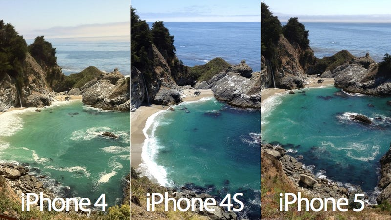 Here's a Side-By-Side Comparison of a Picture Taken with the iPhone 5 and the iPhone 4S