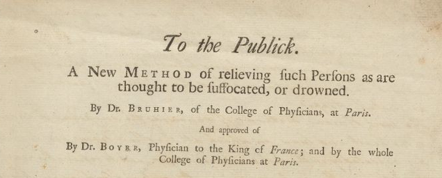 The Tobacco Smoke Enema: A Dubious 18C Method For Reviving The Drowned