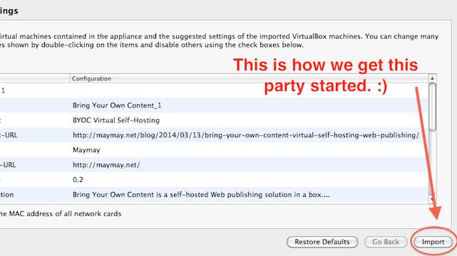Use Virtualbox to Host Your Own Site, Mirror Your Tumblr or Wordpress