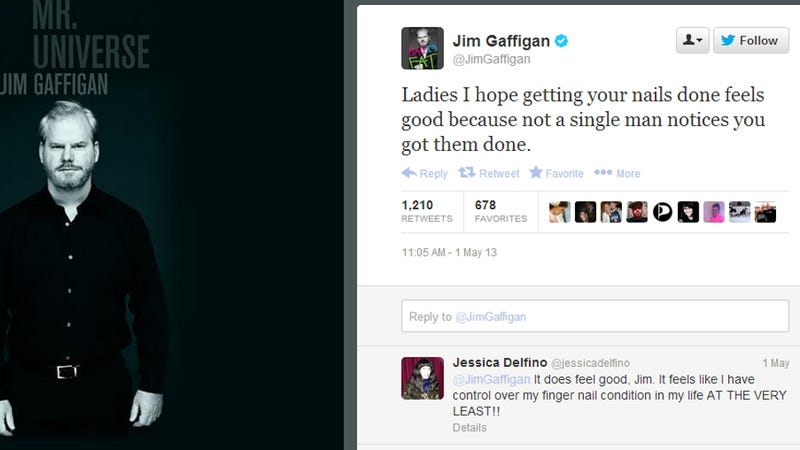 Jim Gaffigan Made a Crack About Women's Nails and Everybody Freaked