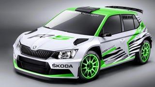 Skoda's New Rally Car Is A Ferocious Speed-Zebra