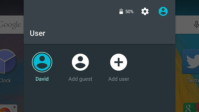 Android 5.0 Lollipop guest mode