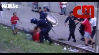 Portuguese Soccer Fan Beaten By Police In Front Of His Son And Father