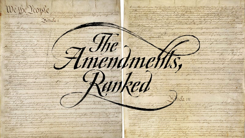 Constitutional Amendments, Ranked