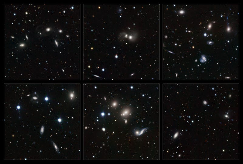 Galaxies are smashing into each other all over this cluster