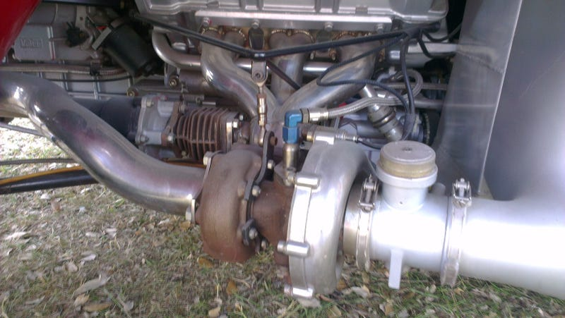 1986, when exposed turbos were a good idea.
