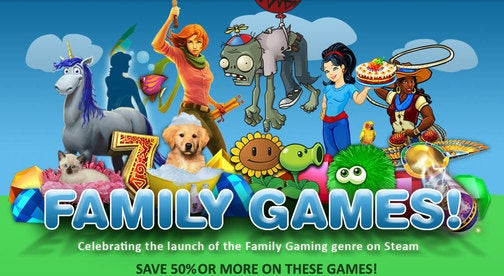 """Steam Launches """"Family"""" Section, Please Don't Roll Your Eyes"""