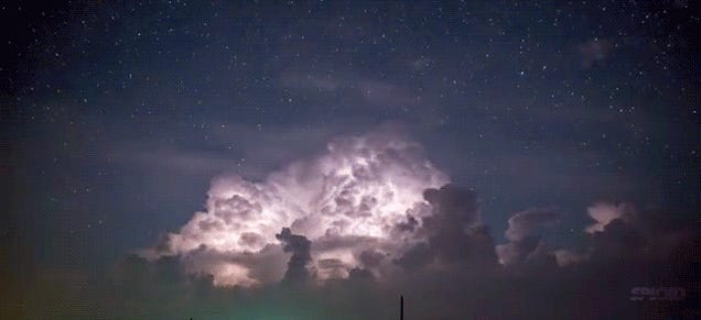 Even the most ferocious storm can look beautiful in a time-lapse video