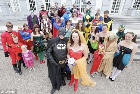Batman and Wonder Woman get married, for real