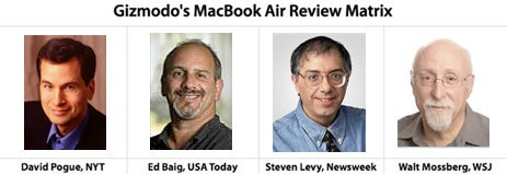 Our MacBook Air Review Matrix