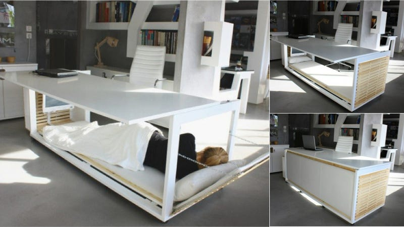 This Desk-Bed Makes Snoozing at Work a Cinch