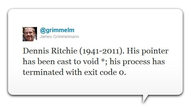 Dennis Ritchie, Co-Creator of Unix and Founder of C, Has Died