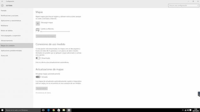 Cómo descargar los mapas de Windows 10 para usarlos sin conexión