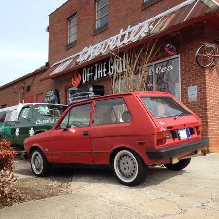 """For those who don't know what a Yugo is... It's a Smart Car from the 80s"""
