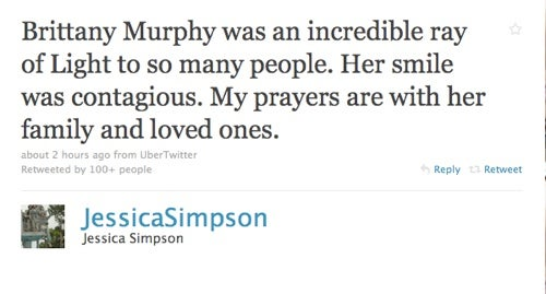 Celebrities React To Brittany Murphy's Death On Twitter