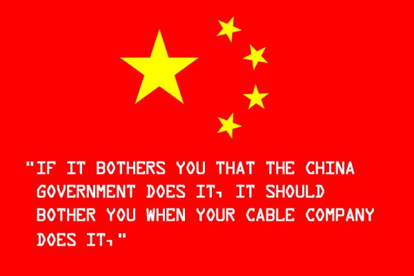 White House Deputy Chief Technology Officer Compares Censorship In China To American ISPs