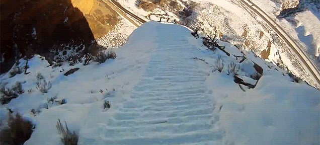 This ski jump makes me feel my stomach drop every single time