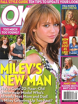 This Week In Tabloids: Miley's Man Models, Lindsay Cuts Herself, 90210 Stars Don't Eat