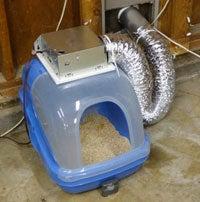 DIY Cat Litter Box Ventilation System