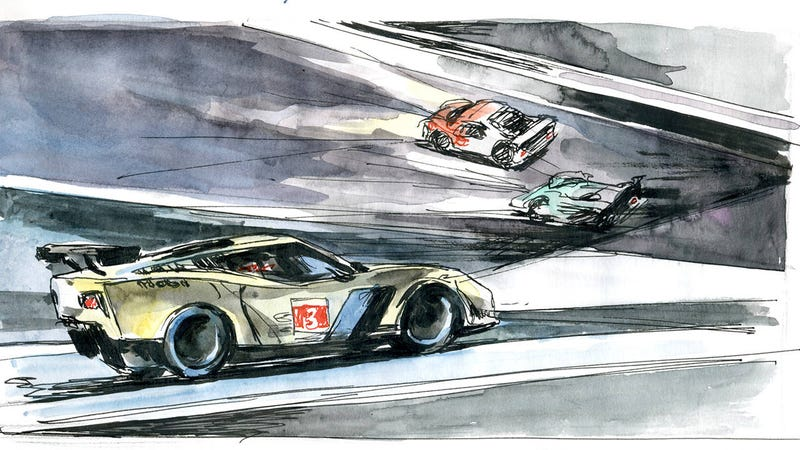 We challenged an artist to draw the Daytona 24. She kicked ass.