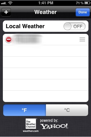 Tip: Disable Local Weather to Save Battery