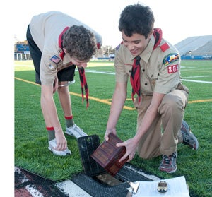 Boy Scouts Locate Geocaching Merit Badge