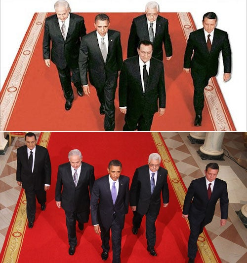 Spot the Difference: Doctored Egyptian News Photo Edition