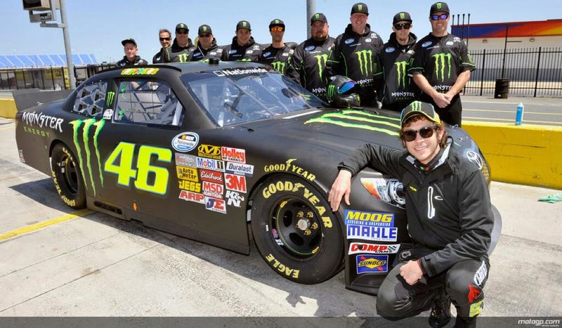 Valentino Rossi Was Faster Than Half The NASCAR Field In First Test