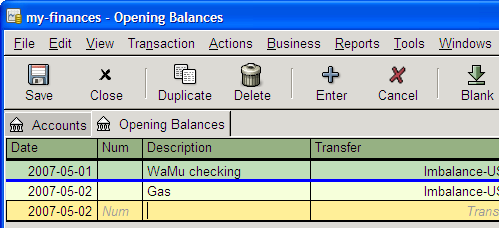 GnuCash personal accounting software v. 2.1.1 (Windows/Linux)