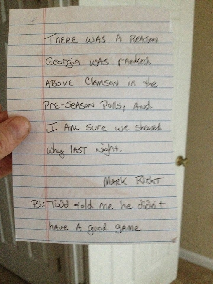 After Rout, Mark Richt Writes Letter To Trash-Talking Clemson Fan [UPDATE]
