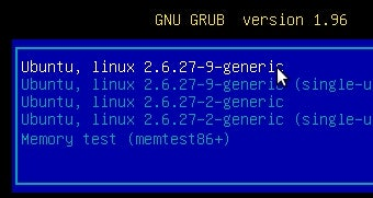 Customize Ubuntu 9.10's Grub Boot Screen