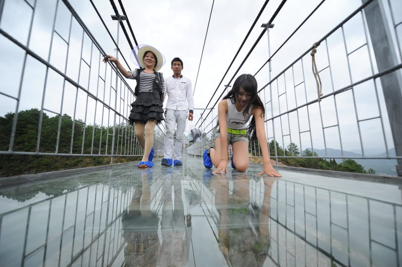 The Longest Glass Bridge on Earth Caters to Tourists Who Like Being Scared Silly