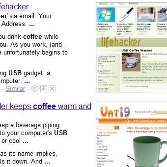 Google Adds Thumbnailed Results with Page Previews