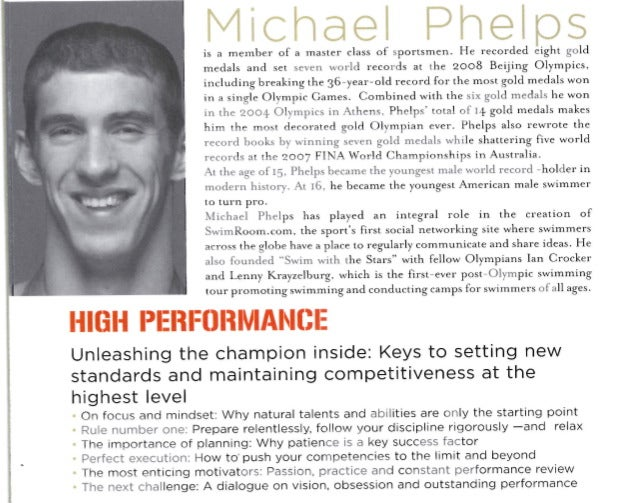 Michael Phelps To Teach CEOs About 'High' Performance