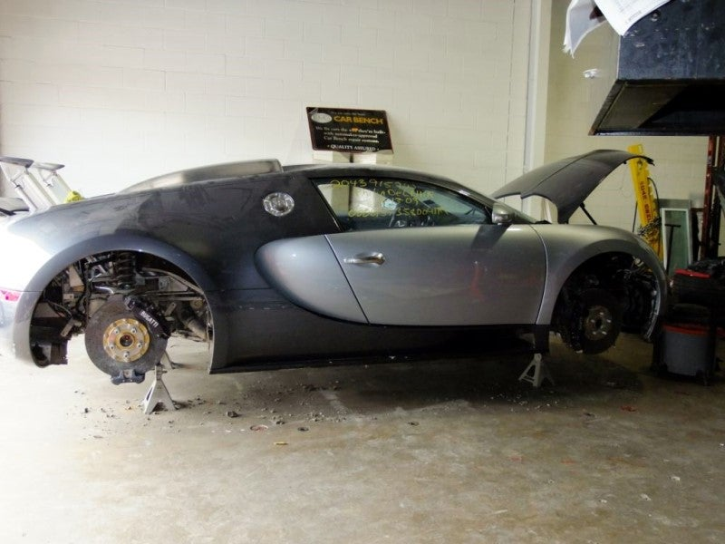 Texas Bugatti Insurance Adjuster Photos Show A Seriously Stripped Veyron