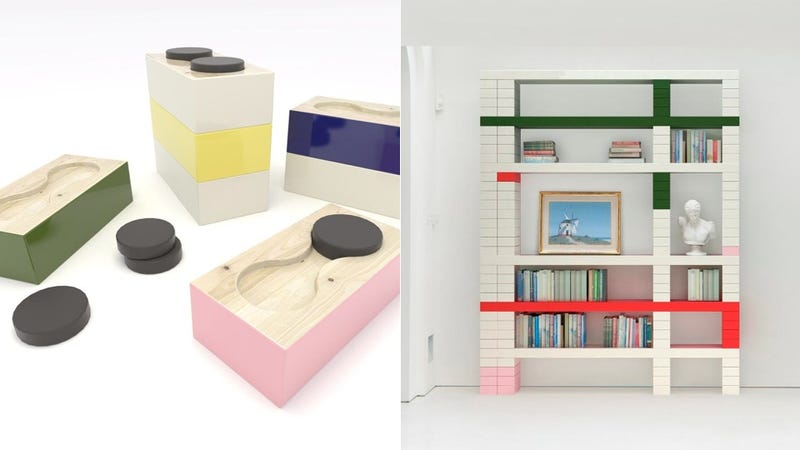 """Undergraduate"" Shelves Are Sophisticated Storage Inspired by Student Dorms"