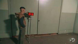 Can A <i>Doom</i> Marine Really Carry Nine Weapons? <i>Mythbusters</i> Finds Out.